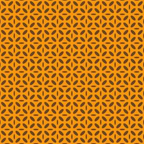 ellipse brown on orange