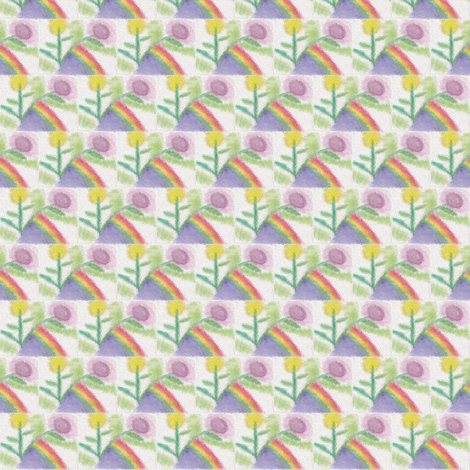 floral_water_marker_stained_glass_8_25_2015 fabric by compugraphd on Spoonflower - custom fabric