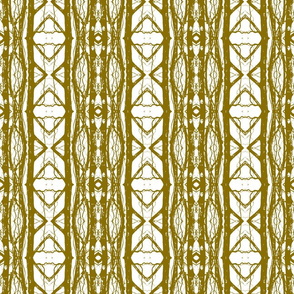 Geometric Sycamore (Mustard on White)