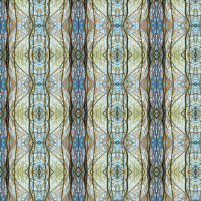 Cathedral Windows (Blue Spirograph)