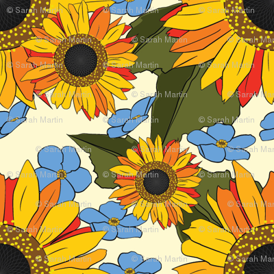Sunflowers Forget Me Not