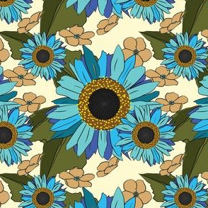 Sunflower Forget Me Not Blues