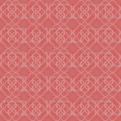 024 Quatrefoil red