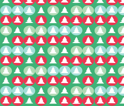 Christmas tree polka fabric by bruxamagica on Spoonflower - custom fabric