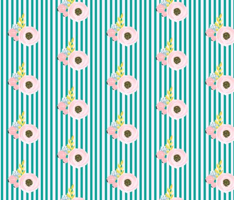 Rfloralstripe2_turquoisepink_shop_preview