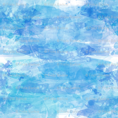 Coastal Blue Watercolor Background Effect