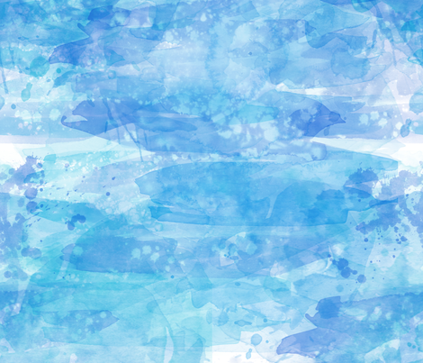 Coastal Blue Watercolor Background Effect fabric by pearl&phire on Spoonflower - custom fabric