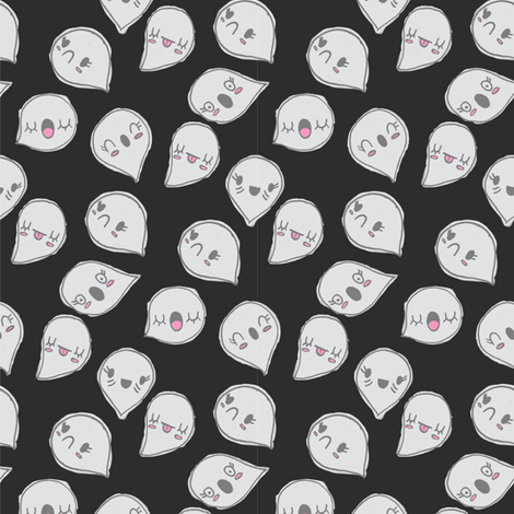 CUTE GHOST PARTY fabric by claudia_ramos_designs on Spoonflower - custom fabric