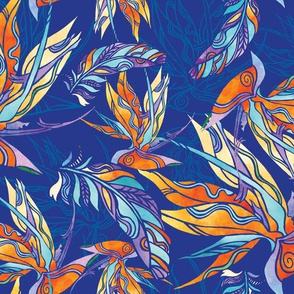 Floral Feathers