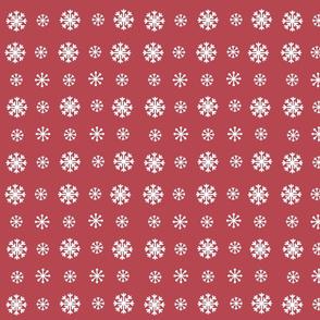 Snowflakes -berry white