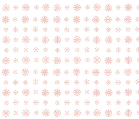 Snowflakes snow petal fabric by drapestudio on Spoonflower - custom fabric