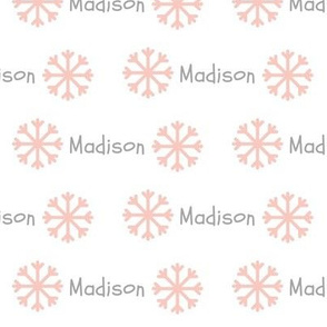 My Snowflakes- petal gray PERSONALIZED Madison