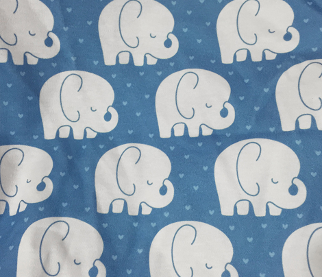 mod baby » sleepy elephants blue