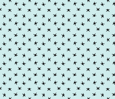 Bitty Skulls - small - Pepperment fabric by sugarpinedesign on Spoonflower - custom fabric