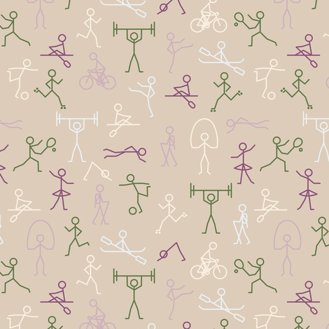 Stick Fit Natural fabric by seesawboomerang on Spoonflower - custom fabric