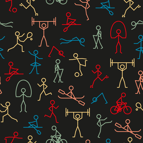 Stick Fit Poster fabric by seesawboomerang on Spoonflower - custom fabric