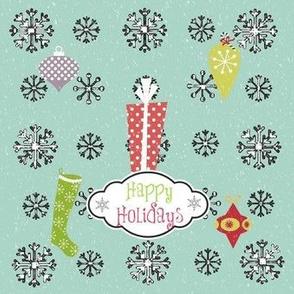 Vintage Snow Joy-Happy Holidays