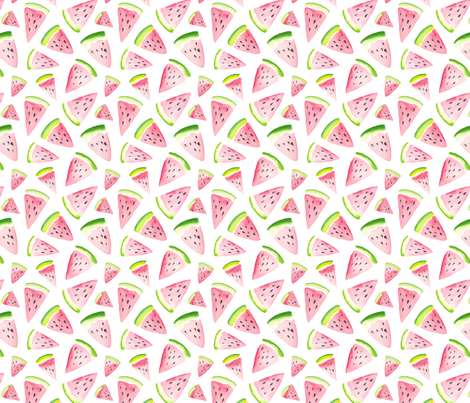 Watermelon Love fabric by dinaramay on Spoonflower - custom fabric
