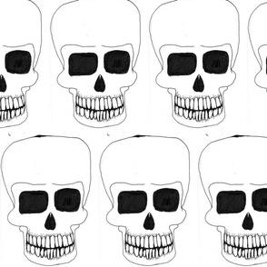 skulls black on white