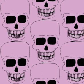 halloween skull pink