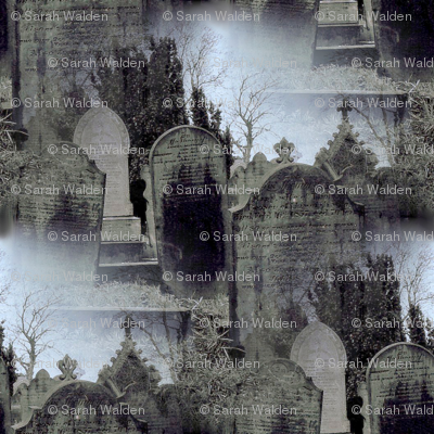 Haworth Graveyard in the Mist ~ Medium