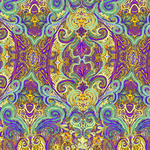 Twisty paisley pattern