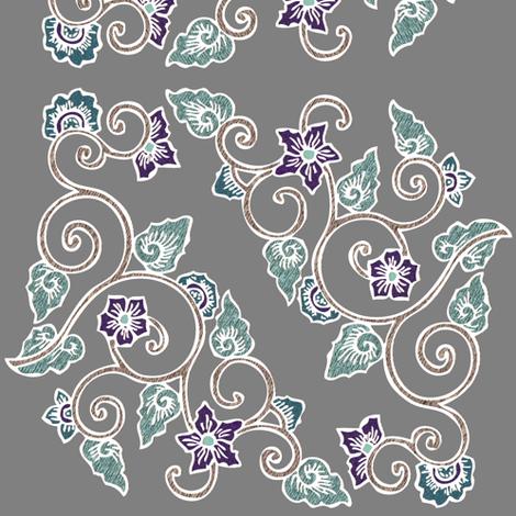 Multi-swatch-3a-corner-embroidery-batik-white-lines-alternate-colors-CS6-p4 fabric by mina on Spoonflower - custom fabric