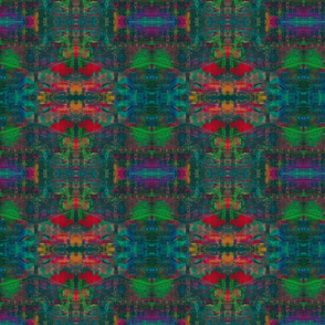 Christmas Totem Cabin Abstract