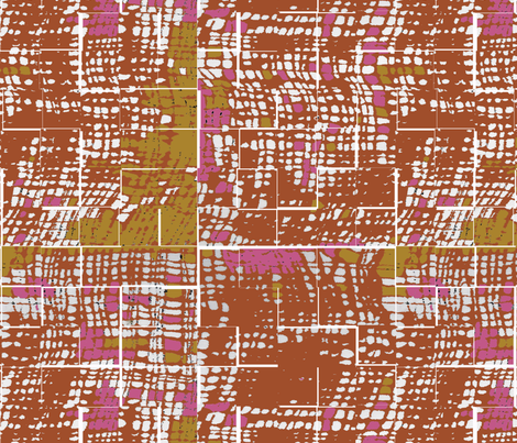 Orange textured print fabric by melodieraydesigns on Spoonflower - custom fabric