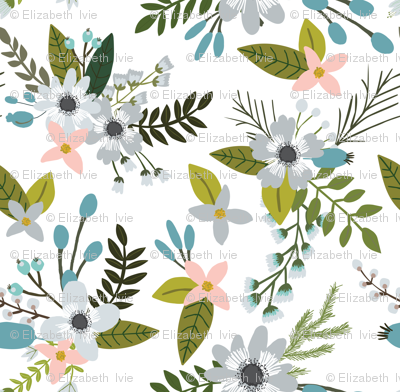 sprigs and blooms // silver