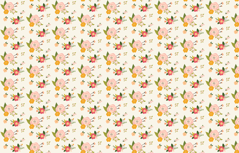 pink floral fabric by kgiacalone on Spoonflower - custom fabric