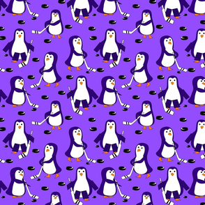 Penguin hockey purple