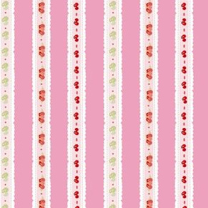 market fruit ribbons stripes