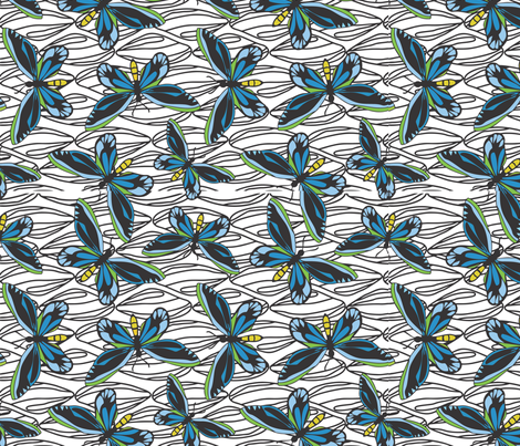 Queen_Alexandra_Birdwing_Butterfly fabric by malolo on Spoonflower - custom fabric