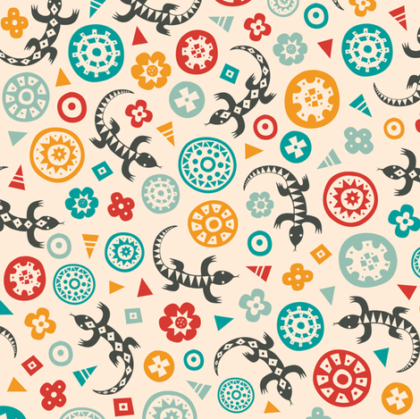 Lagarto Gris fabric by lisa_brown on Spoonflower - custom fabric
