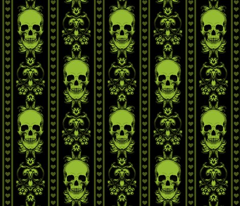 Baroque-skull-pattern-stripe_green_repeat_shop_preview
