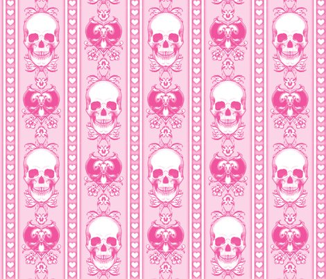 Baroque-skull-pattern-stripe_pink_repeat_shop_preview