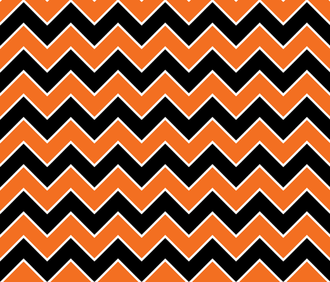 Halloween Chevron Pattern wallpaper - ophelia - Spoonflower