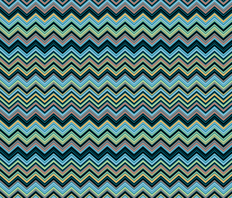 Multicolor Blue Chevron Pattern fabric by ophelia on Spoonflower - custom fabric