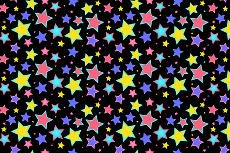Shiny Rockstar fabric by sparklepipsi on Spoonflower - custom fabric