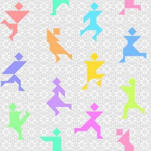 tangrams : 12 rainbow dancers
