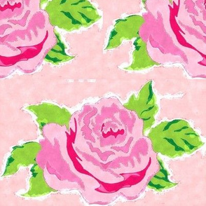 Watercolor rose Large -petal