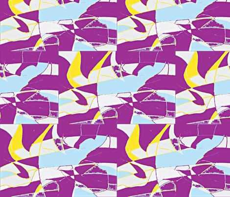 Midnite Sun/large/ plum fabric by menny on Spoonflower - custom fabric