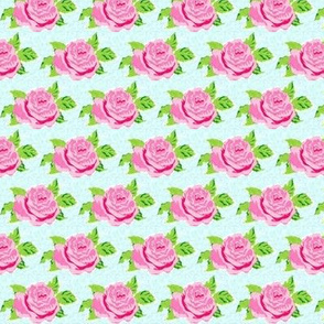 Watercolor rose MINI-seafoam