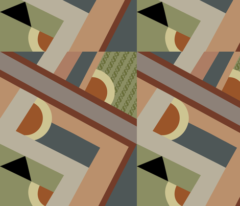 Zig Zag Khaki fabric by designsld on Spoonflower - custom fabric