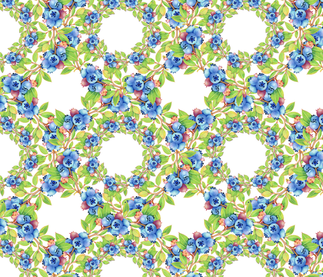Maine Blueberry Lattice fabric by patriciasheadesigns on Spoonflower - custom fabric