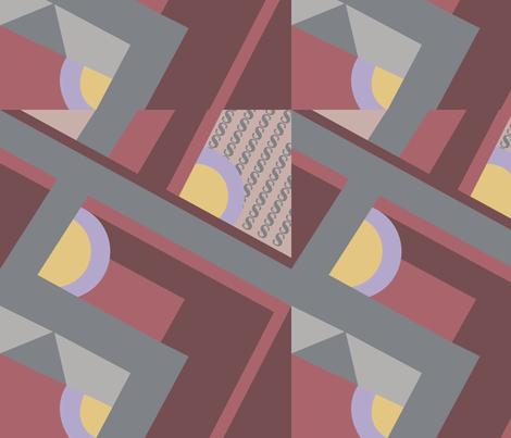 Zig Zag Merlot fabric by designsld on Spoonflower - custom fabric