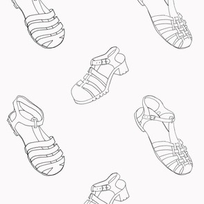 Jelly Shoes B&W