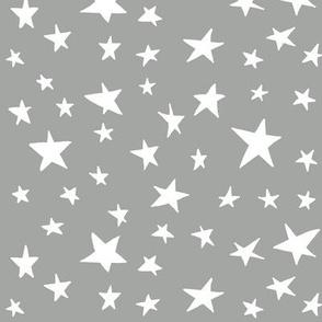 stars on grey