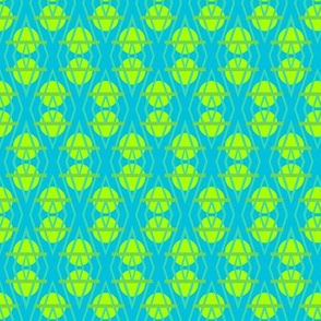 Diamante Circles in Lime